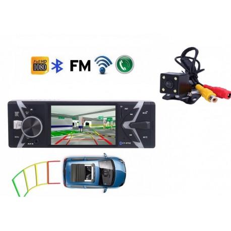 """Rádio LCD 4 """" - 1 DIN + Camara Traseira"""
