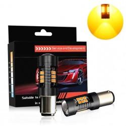Lâmpada LED PY21W. PY21/5w - 1 ou 2 pólos (Laranja) Canbus - 650LM - 12/24v