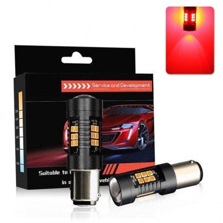 Lâmpada LED P21W (Vermelho) Canbus - 650LM