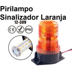 Pirilampo Sinalizador Laranja  LED - Luz Presença