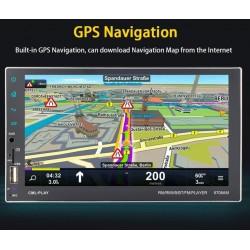 "Rádio 7 "" - 2 DIN  + Moldura - Android - GPS - Mirror Link  - Bluetooth"
